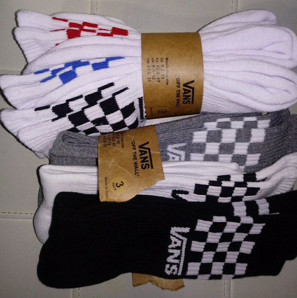 60ca2b7c4a5959 (2) - 3 pack Van Crew Checkerboard Socks Men s